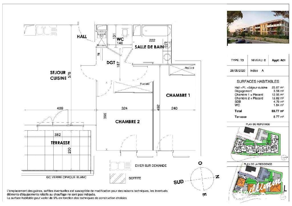 Appartement T3 neuf avec terrasse et parking - DRAGUIGNAN - Les Programmes neufs