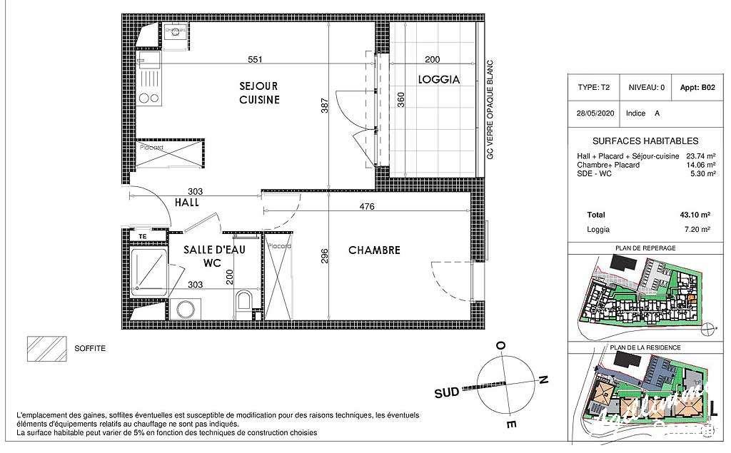 Appartement neuf T2 avec box et terrasse - 83300 - Les Programmes immobiliers