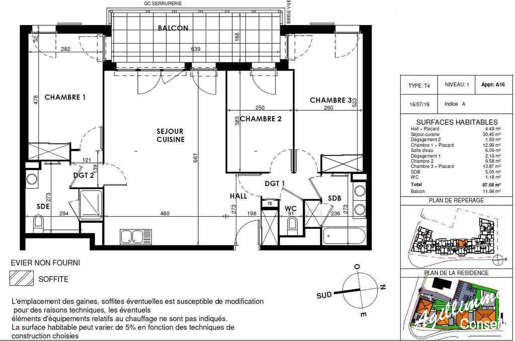 Appartement 4 pièces neuf - 83300 - Les Programmes immobiliers