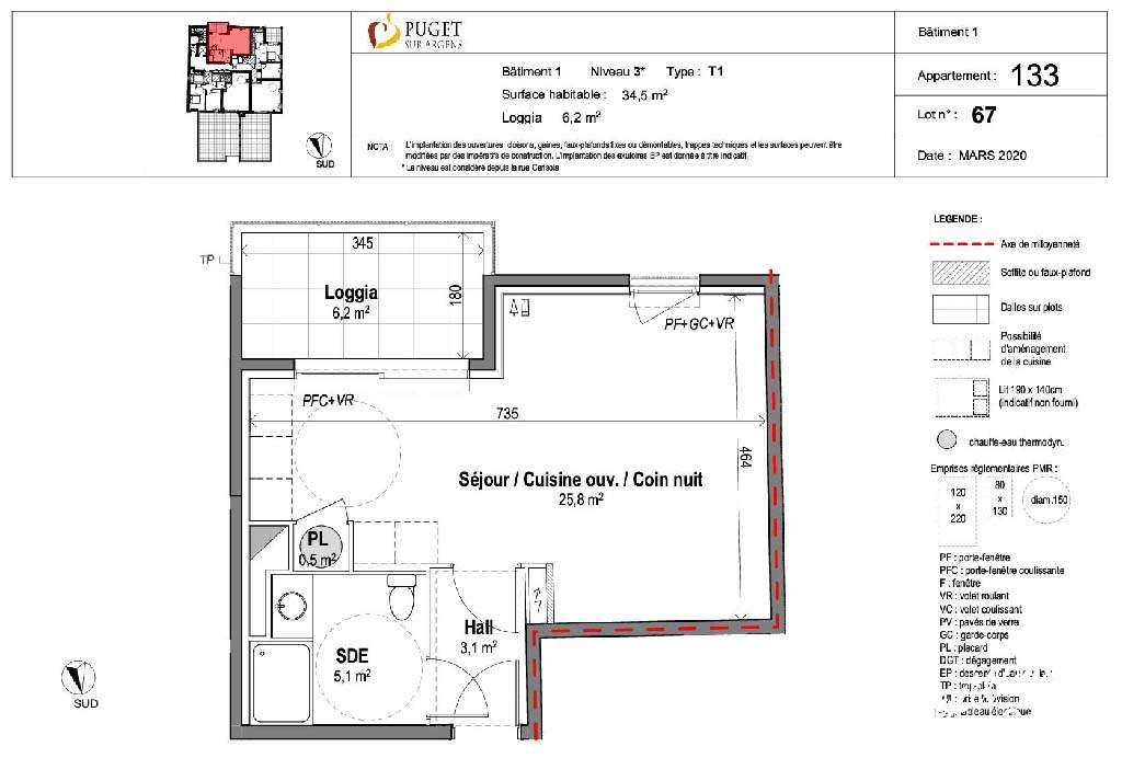 Appartement Studio neuf centre-village - PUGET SUR ARGENS - Les Programmes neufs