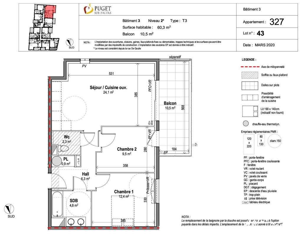 Appartement T3 avec terrasse et jardin - PUGET SUR ARGENS - Les Programmes neufs