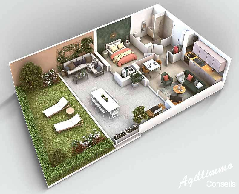 Appartements neufs centre-village - PUGET SUR ARGENS 83480 - Prix promoteurs